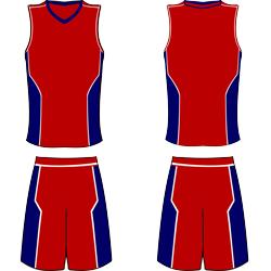 Desain Kostum basket maroon